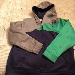 Under Armour zip up hoodie Navy/Gray/Green